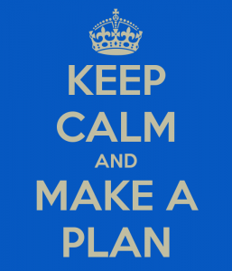 blue image keep calm and make a plan