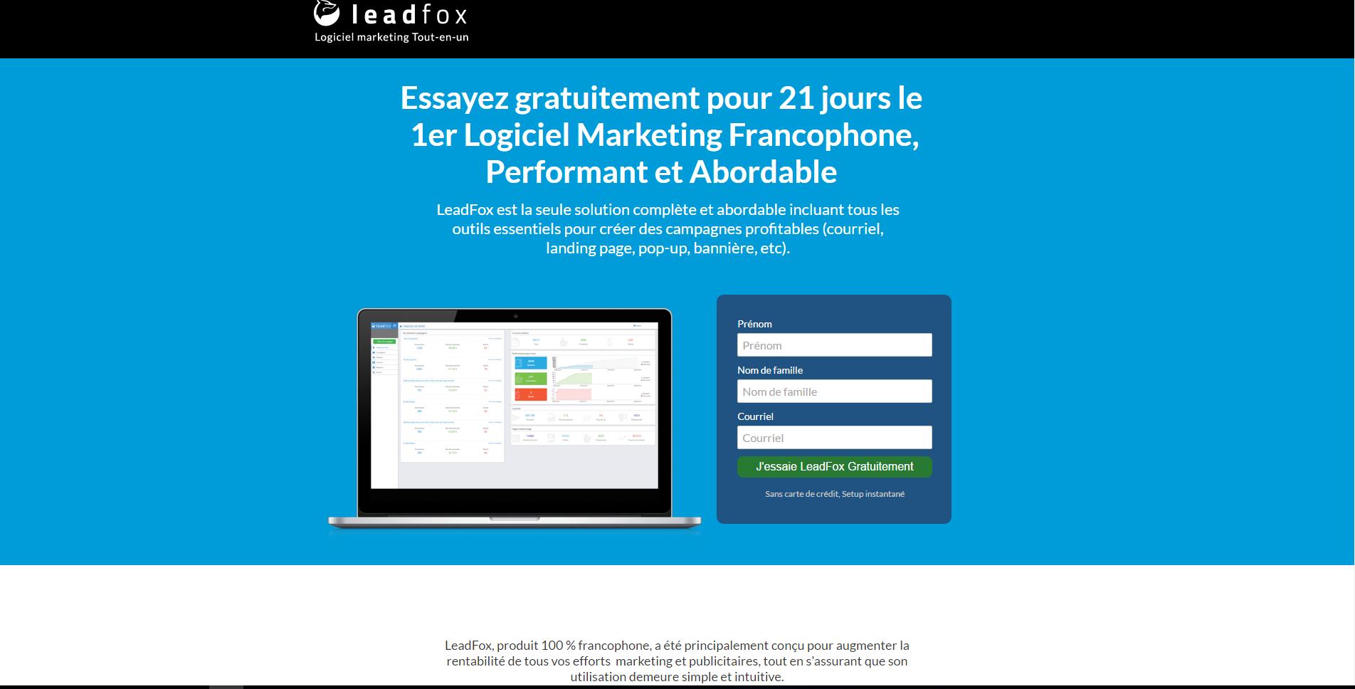 convertir avec une landing page LeadFox