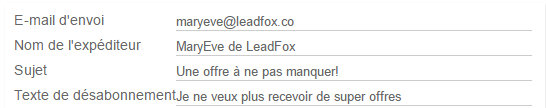 leadfox 4 étapes